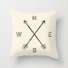 Compass (Natural) Throw Pillow