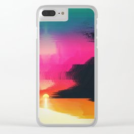 digital beachhead Clear iPhone Case