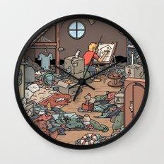 Artist in the Attic Wall Clock