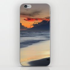 Magic red clouds. Sea dreams iPhone & iPod Skin