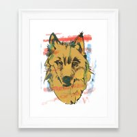 howl Framed Art Prints featuring HOWL by Galvanise The Dog