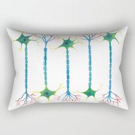 Neuron 5 in White Rectangular Pillow
