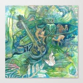 Emerald Wisdom Canvas Print