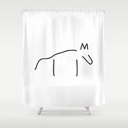 dog or wulf Shower Curtain
