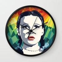 dorothy Wall Clocks featuring Dorothy by Stephanie Keir
