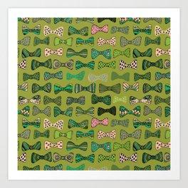 Bow ties Art Print