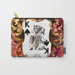 Poker King Spades colored Carry-All Pouch
