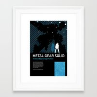 metal gear solid Framed Art Prints featuring Metal Gear Solid by Michael Weinstein