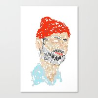 zissou Canvas Prints featuring zissou by thom mirem