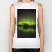 northern lights Biker Tanks featuring The Northern Lights by Nirupam Nigam