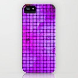 Purple flower pattern iPhone Case