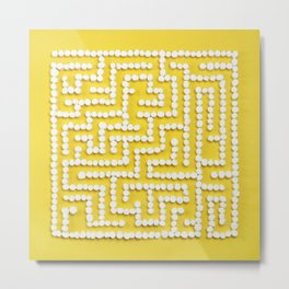 Mini Marshmallow Maze Metal Print