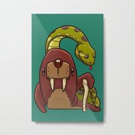 The Walrus and the Anaconda Metal Print