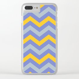 Chevron   Blue & Yellow Clear iPhone Case