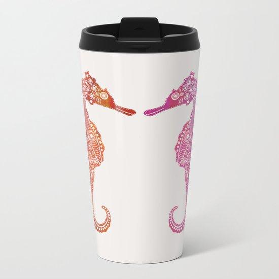 Seahorse Love II Metal Travel Mug