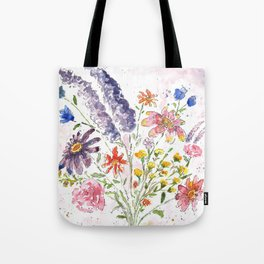 Cotton Candy Floral Tote Bag