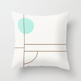 Balm 01 // ABSTRACT GEOMETRY MINIMALIST ILLUSTRATION Throw Pillow