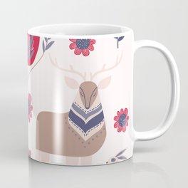 Scandinavian Winter Pattern Beige #society6 #buyart Coffee Mug
