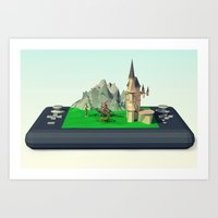 video games Art Prints featuring Fantasy Video games  by Amro Arida