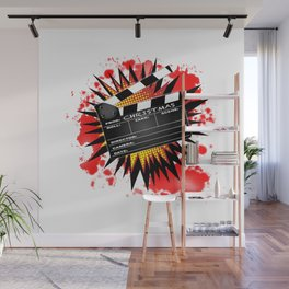 Christmas Clapperboard Wall Mural