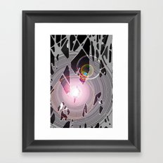 What's Behind the Grey?  Framed Art Print