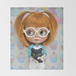 Erregiro Blythe Custom Doll Carmencita & Sócrates Throw Blanket