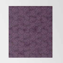 Meredith Paisley - Purple Throw Blanket