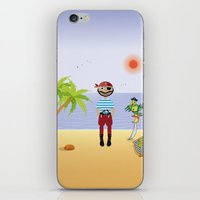 pirate iPhone & iPod Skins featuring Pirate by MyimagesArt