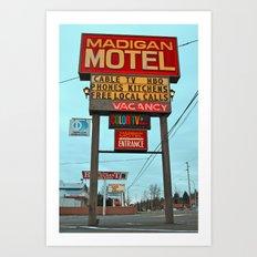 Motel Americana Art Print