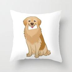 Love Golden Retriever Throw Pillow