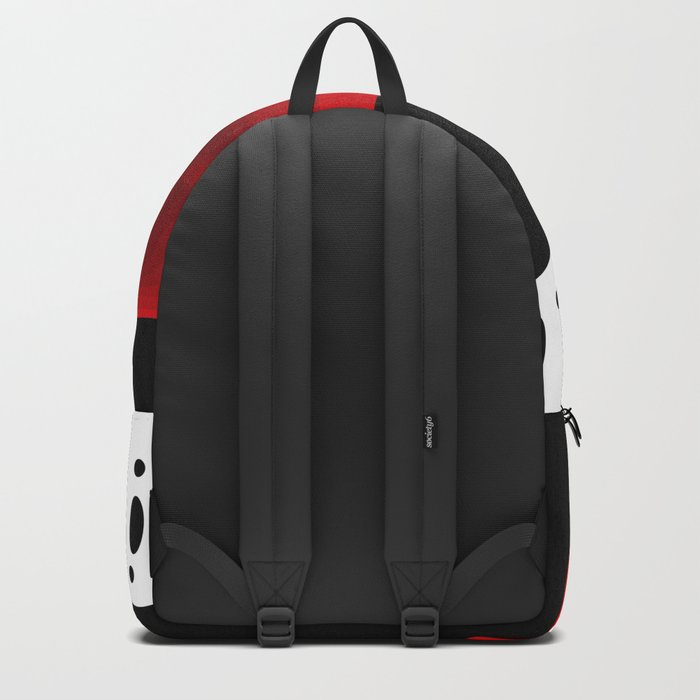 Red , abstract Backpack