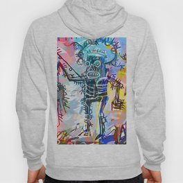 A digitally and roughly vectorised Jean Michel Basquiat Hoody