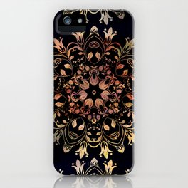 deep toned mandala pattern iPhone Case