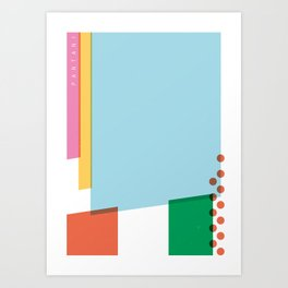 SECRET CYCLING FLAG - PANTANI Art Print