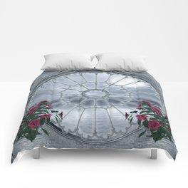 Gothic Rosette Window Comforters