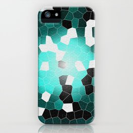 MOSAIC TEXTURE CYAN - Only for IPhone cover - iPhone Case