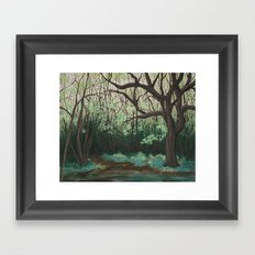 The Path to the Pond Framed Art Print