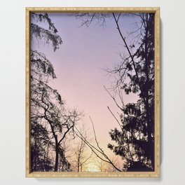 Sky colors and trees Serving Tray