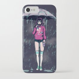 Only Happy When It Rains iPhone Case