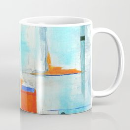 Nautical Intentions, Abstract Art Painting Coffee Mug