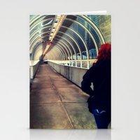 onward Stationery Cards featuring Onward Into The Tunnel Forbidden  by AJ Calhoun
