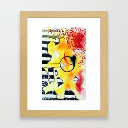 circles and stripes Framed Art Print