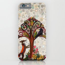 fox and crow iPhone Case