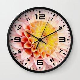 Light pink Dahlia #3 Wall Clock