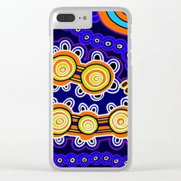 Authentic Aboriginal Art - Yugarabul Gathering Clear iPhone Case