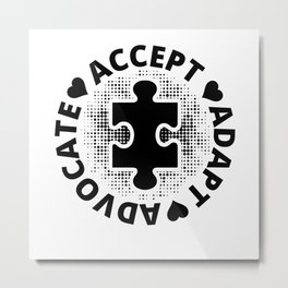 Accept Metal Print