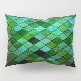 Watercolor Green Pillow Sham