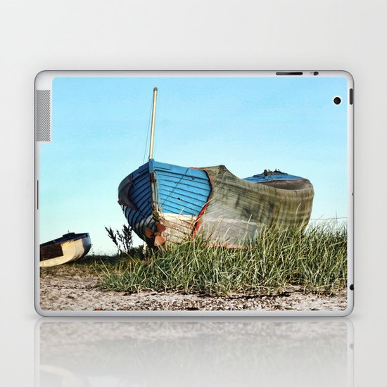 Blue boat Laptop & iPad Skin