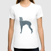 greyhound T-shirts featuring Greyhound by Three Black Dots