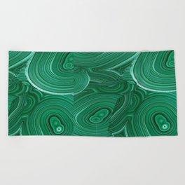 Green Malachite Nature Pattern Design Abstract Beach Towel